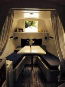 Picture of elaborately furnished narrowboat