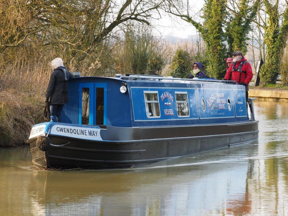 Boat approaching mooring