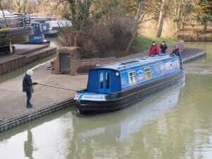 Boat mooring up